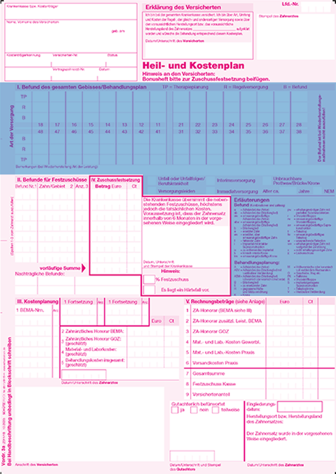 abschnitt 2 - Heil Und Kostenplan Einreichen Anschreiben