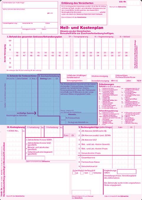 abschnitt 3 - Heil Und Kostenplan Einreichen Anschreiben